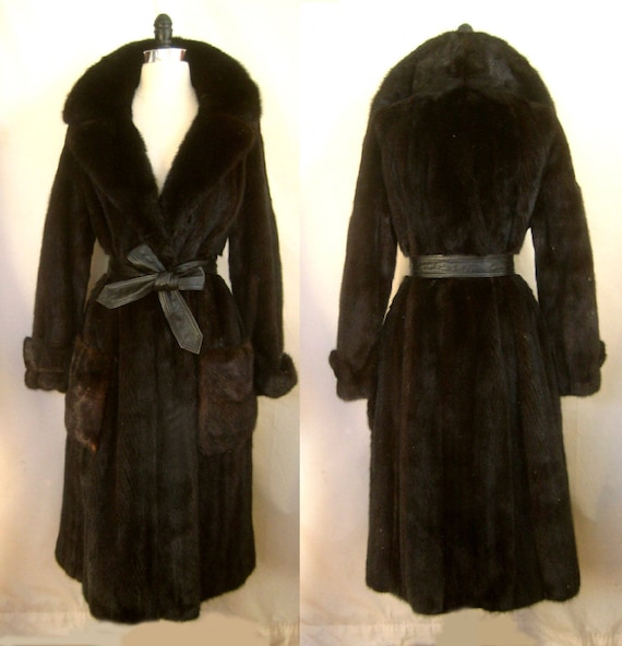 Long MINK gift Dark ~ ~ Ranch Amazing condition Fur Brown COAT Luxury Black Mahogany Jacket gwIHxSqX