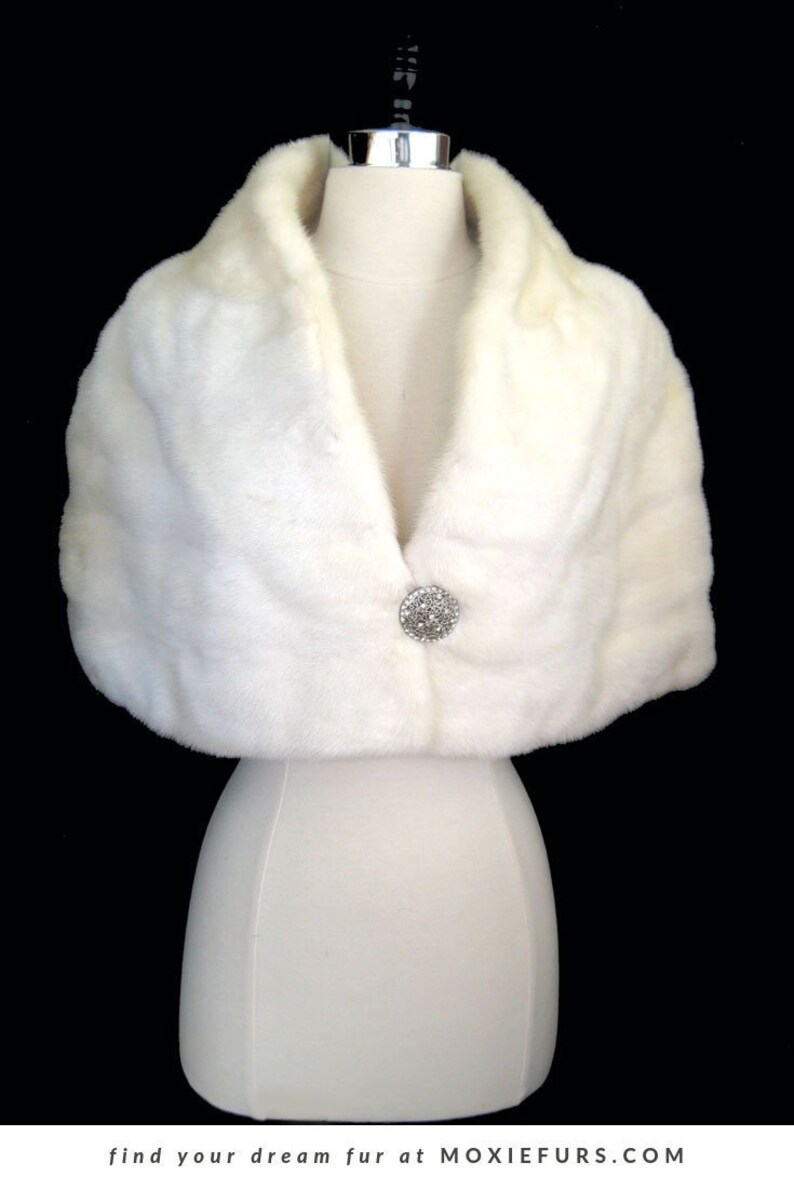 White Fur Stole >> Exquisite White Mink Fur Stole Real Fur Bridal Bolero Jacket Coat Ivory Winter Wedding Shawl Wrap Vintage Bride Gift Cape Capelet