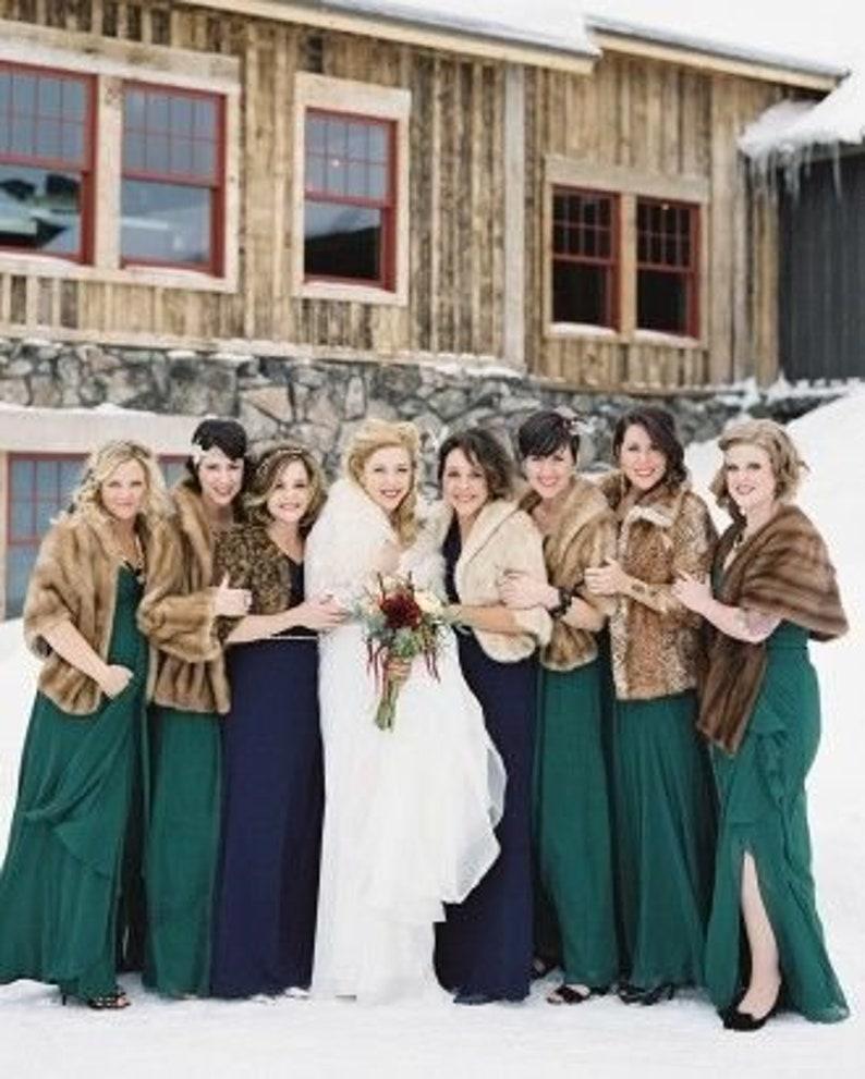 Beautiful mink or fox fur stoles for your wedding Custom  946724298e36