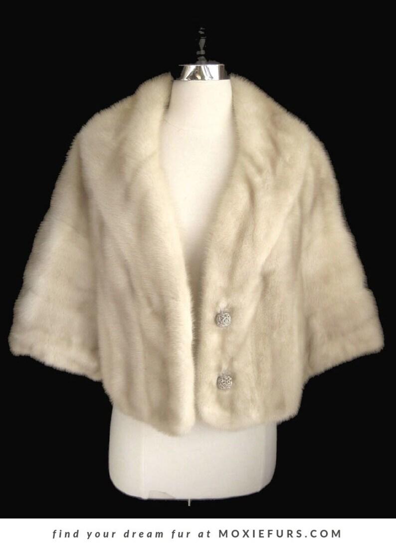 0c0da983 Blonde MINK Fur Stole Tourmaline Bridal Bolero Jacket | Etsy