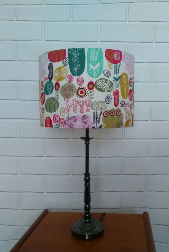ABSTRACT Retro Wild Flowers Floral Woodlands Fabric Table Lampshade Ceiling Lamp