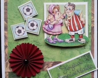 scrapbooking, 3d marij rahder poor player of soccer card!