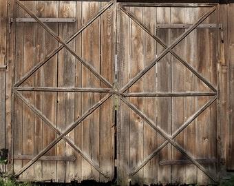 Shabby Old Wood Barn Door Photodrops, Children Portraits Photography  Backdrop, Vintage Farm Barn Doors Photoshoot Background D 7054
