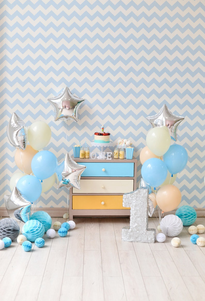 One Year Old Baby Shower Birthday Party Photoshoot Background Boys Interiors Vinyl Photography Backdrop For Studio Family Photodrop XT 6214