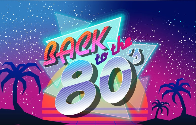 Photography Backdrops80s Retro Party Decoration Photo Etsy