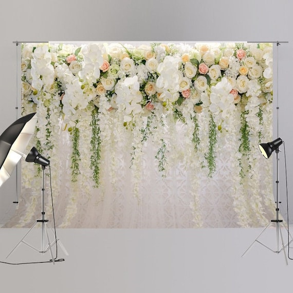 Wedding Backdrops Wedding Flowers Wall Photography Background Birthday Party Bridal Shower Decor Banner Floral Photo Backdrop Props Xt 6749