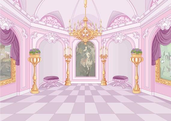Children Photography Backdrop Pink Princess Castle Photo