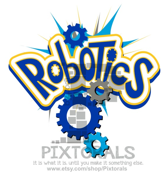 Robotics Logo Science Graphics Edgy Eps File Vector Etsy