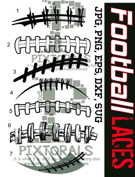 football vectors 7 football laces vectors as png jpg high etsy