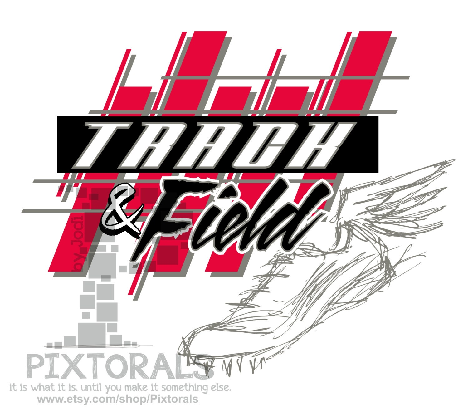 Track And Field Design Corel Eps Jpeg T Shirt Graphics Etsy