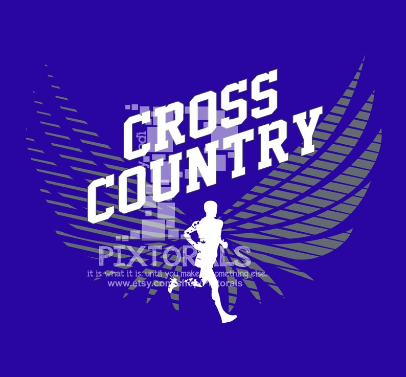 Cross Country Design! eps, svg, dxf, jpeg, png, T-shirt Graphics, Cross  Country Logo, Cross Country Clipart, Vector Art