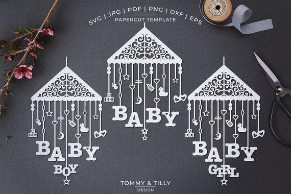 Baby Mobile Papercut Template Machine Cut Cricut Etsy