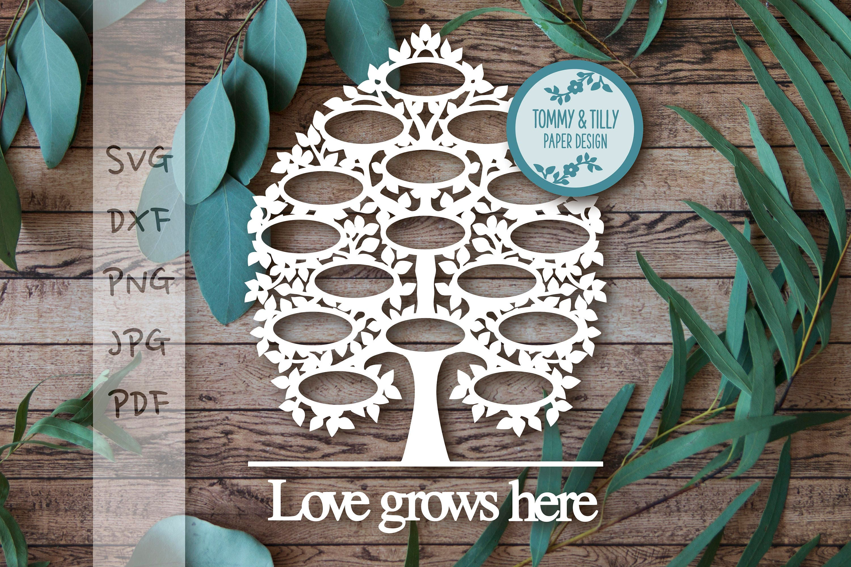 16 Name Family Tree Design SVG DXF PNG Jpg Pdf