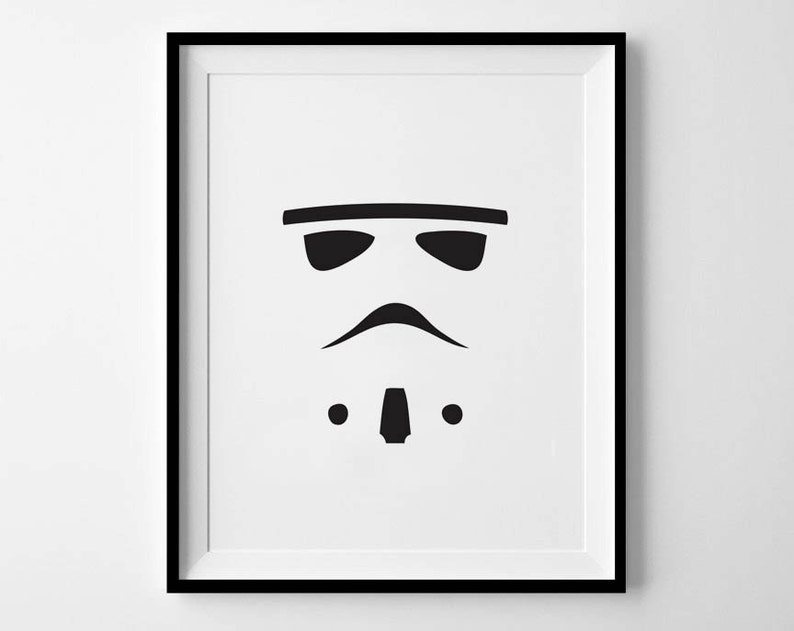graphic regarding Stormtrooper Stencil Printable identified as Stormtrooper, Prompt Down load, Star Wars, 8x10, 11x14, Printable Artwork, Printable Star Wars Artwork, Stormtrooper Print, Minimalist