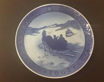Royal Copenhagen Christmas Plate, 1964