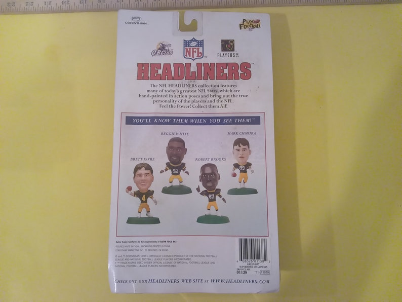 Green Bay Packers Super Bowl Stars 1996 Headliners Sports Action Figures
