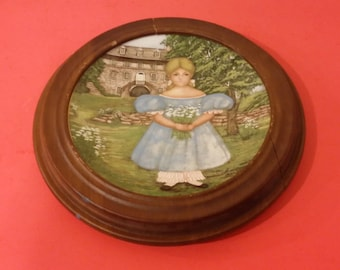 """Edwin M Knowles American Innocents """"Ann by the Terrace"""" Collector Plate, 1986"""