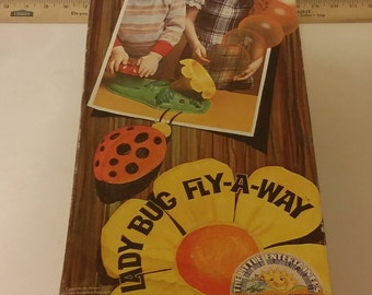 Vintage Lady Bug Fly-A-Way Game by Marx Toys, 1977