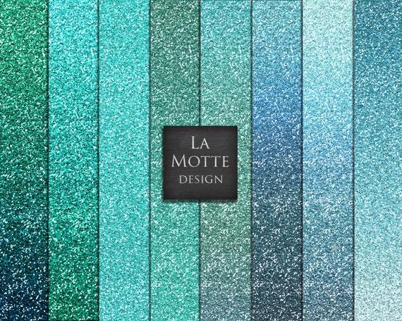 blue glitter digital turquoise glitter paper blue ombre etsy