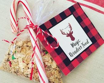 Magic Reindeer Food Bar Printable Supplies Magic Reindeer Etsy