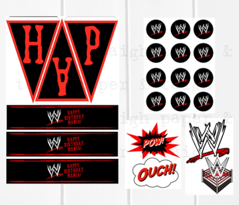 image regarding Wwe Birthday Invitations Printable Free identify WWE Wrestling Birthday Bash Printable Offer, Instantaneous Down load, Expert Wrestling Birthday, WWE Electronic Report Decor, WWE Birthday Decor