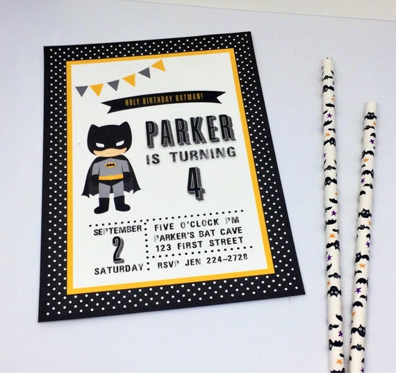 graphic about Printable Batman Invitations titled Batman Birthday Invitation - Printable Batman Invitation - Batman Birthday - Adorable Batman Invite - Printable PDF History