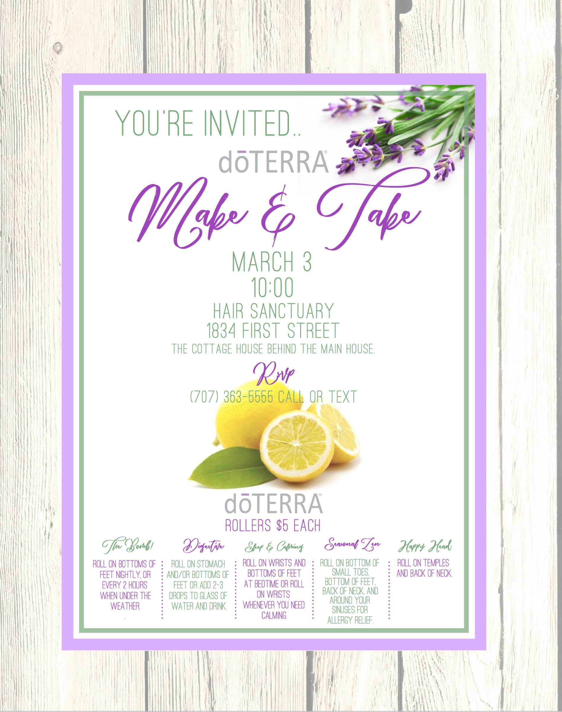 Fine Doterra Party Invites Adornment Invitation Card