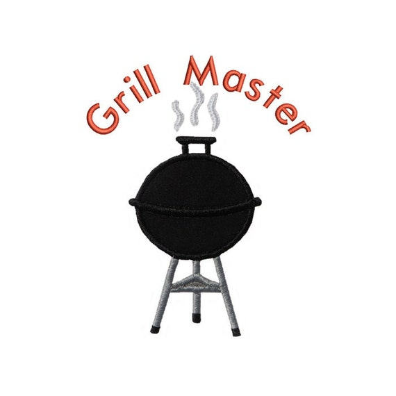 Bbq Grill Master Applique Machine Embroidery Digital Design Etsy