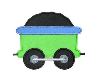 Train Coal Car Applique Machine Embroidery Digital Design Engine Caboose