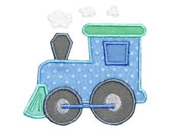 Train Engine Applique Embroidery Machine Design