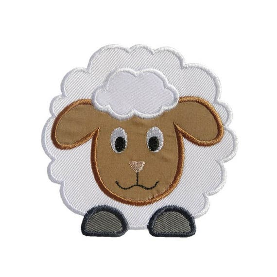 7c323564d11ce4 Fluffy Sheep Applique Machine Embroidery Digital Design Lamb