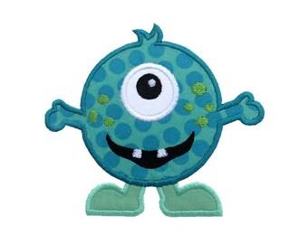 Cute Monster Applique Machine Embroidery Digital Design Alien Martian