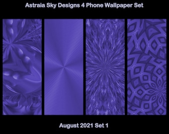 4 Phone Wallpapers Set by ASD