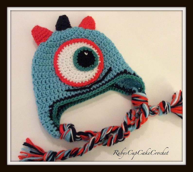 e31acbfcbf0 Handmade Crochet Kids Monster Hat Baby Monster Hat Kids
