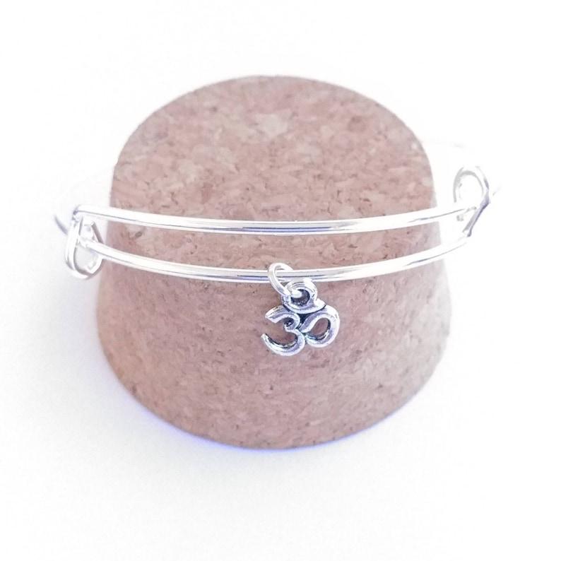 Ohm charm bangle bracelet