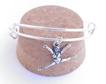 Gymnastics / ballet split charm bangle bracelet