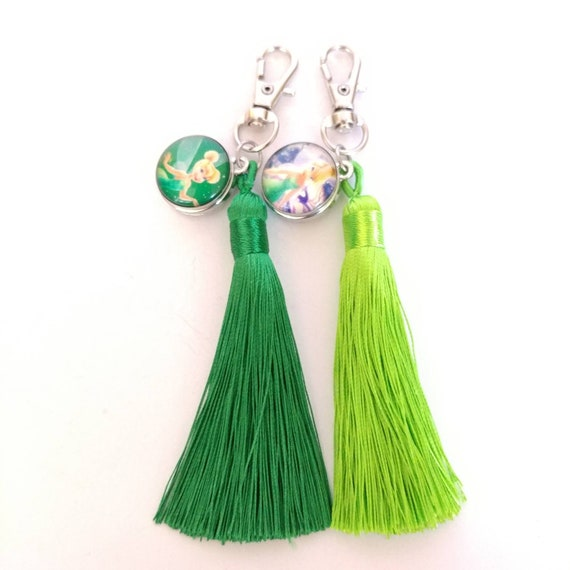 New Tinkerbell Charm Zipper Pull Clip On Charm Bag Purse Jacket Keys Handcrafted