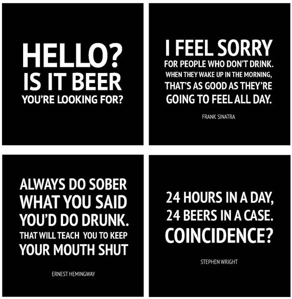 Items Similar To Coasters Funny Drinking Quotes Bar Ware Beer