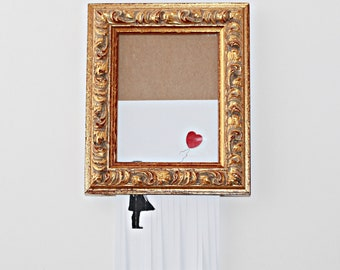 """Handmade with Love by Fatima. Banksy. Cute and SMALL Handmade REPLICA of the""""Girl with Balloon"""" sold in  Sotheby's in London."""