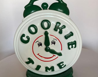 Handmade with Love by Fatima. Decorative Replica Cookie Time clock. Solid piece. Great present for friends fan. 100% handmade & hand painted
