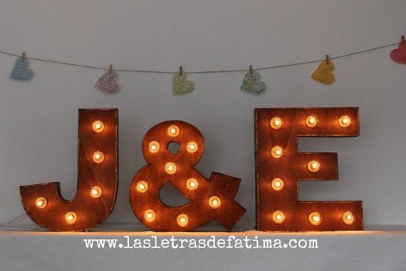 letras con luces