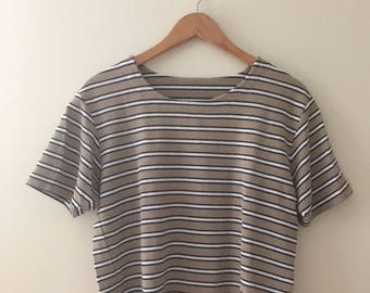 vintage striped tee, women's size M