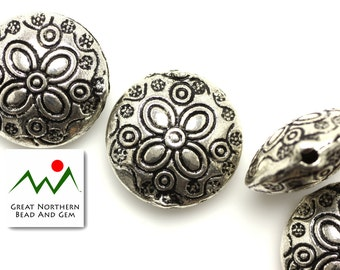 Pewter Beads,Pewter Findings,19MM Large Lentil,#:FIN035838