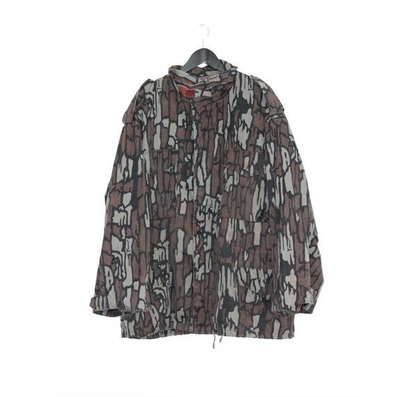 1980s vintage military khaki camouflage oversize j