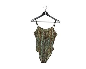 1980 vintage one piece swimsuit 80s swimwear women's body - vintage clothing