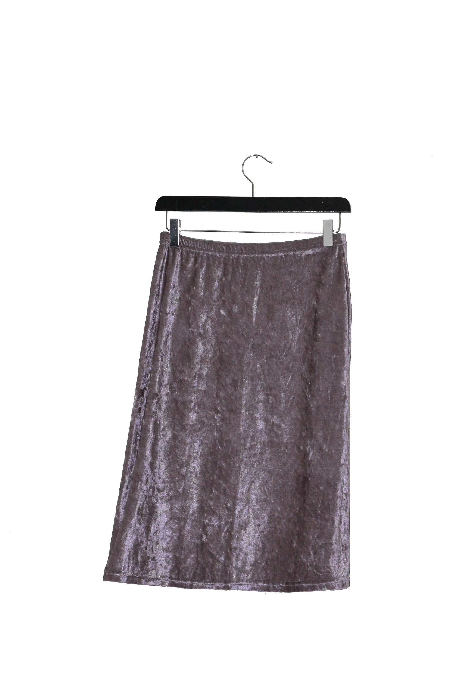 1980 S Vintage Silver Velvet Pencil Skirt Vintage Clothing