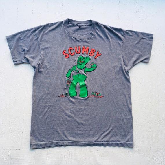 Early 80s Scumby t shirt LARGE single stitch ragla