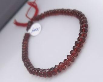 "67ct Garnet Rondelles Garnet Beads Natural Red Garnet Beads 5.5mm Garnet Gemstone Beads Garnet 8"" Strand  GR1D1F0004"