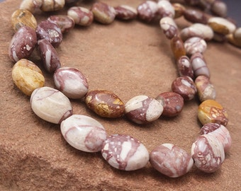 """Mookaite Beads Mosaic Brecciated Mookaite Beads Marquis Marquise Seed Beads 11mm Full 16"""" Strand  Mustard Maroon Purple MKXL3A0001"""