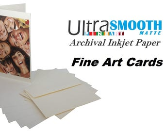 Ultrafine smooth matte fine art archival inkjet printable etsy ultrafine smooth matte fine art archival inkjet printable greeting cards 5 x 7 20 cards with envelopes 205g printable both sides m4hsunfo
